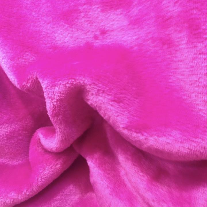 Плюшева тканина двостороння малинова