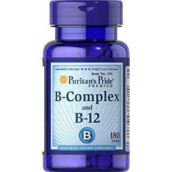 Puritan`s Pride B-complex and B-12 90 tabs