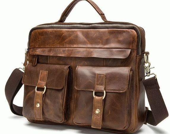 9839bdf535af Кожаная сумка Marranti M8001C, мужская, коричневый — только ...
