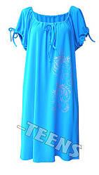 Прямое платье реглан Узор