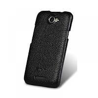 Чехол-накладка для HTC One 801e от Melkco кожаная черная