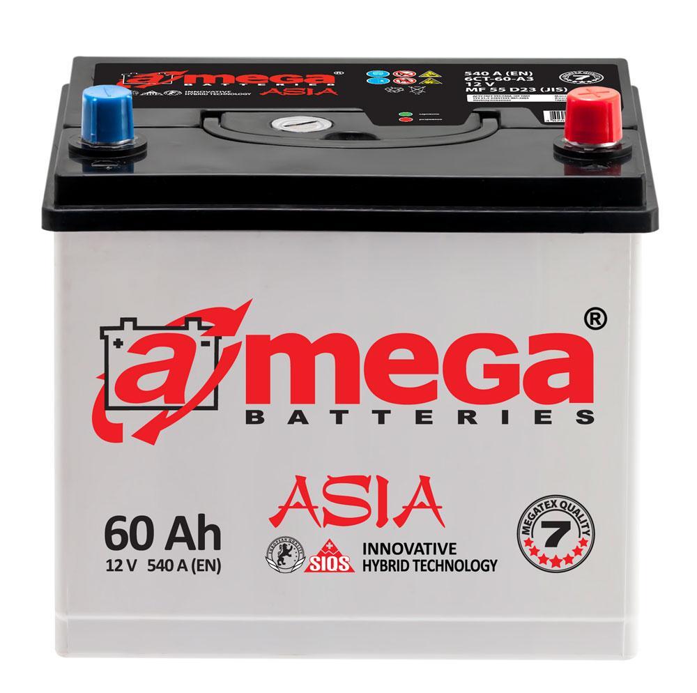 Акумулятор 6СТ-60-АЗ 540А. A-MEGA ASIA (M7)