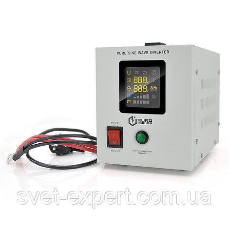 ИБП с правильной синусоидой Europower PSW-EPW800TW12 (480 Вт) 5/10А, под внешнюю АКБ 12В, Q4 5,08 кг