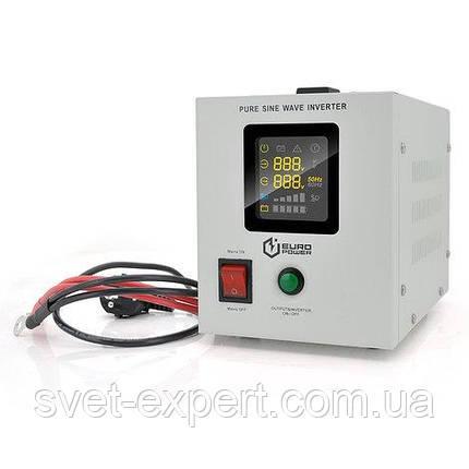 ИБП с правильной синусоидой Europower PSW-EPW800TW12 (480 Вт) 5/10А, под внешнюю АКБ 12В, Q4 5,08 кг, фото 2