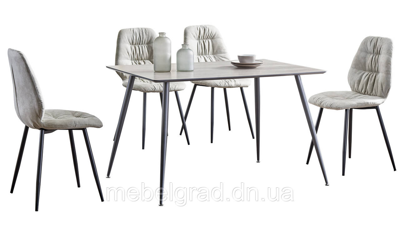 Стол обеденный ТM-45 Vetro Mebel светло-серый