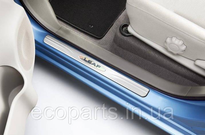 Накладки на пороги для Nissan Leaf (10-17), фото 2