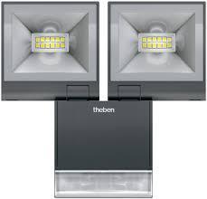 Светодиодный светильник Theben theLeda S20 W BK, с датчиком 2x10 Вт, 3000 К, теплый, th 1020934