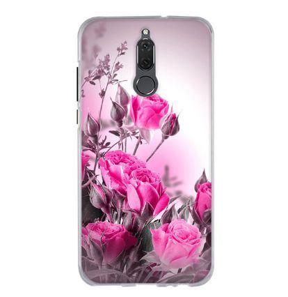 Силиконовый чехол бампер для Huawei Mate 10 Lite с картинкой Розовые розы