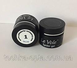 Гель паутинка Spider gel Le Vole 01 белая 7 мл