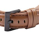 Ремінець для годинника 6 секунд коричневий з натуральної шкіри, фото 3