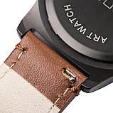 Ремінець для годинника 6 секунд коричневий з натуральної шкіри, фото 5