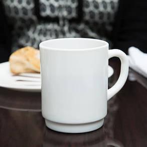 Чашка чайная белая высокая 260 мл Arcoroc Restaurant (36140), фото 2