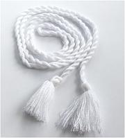 Пояс до вишиванки білий