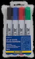 Набор из 4х маркеров для сухостираемых досок BM.8800-94