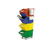 Контейнер для сортировки продукции или отходов Filmop 45 л красный (3667B)