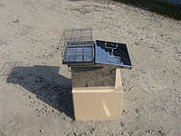 Коптильня с гидрозатвором для горячего копчения (400х280х280), фото 1