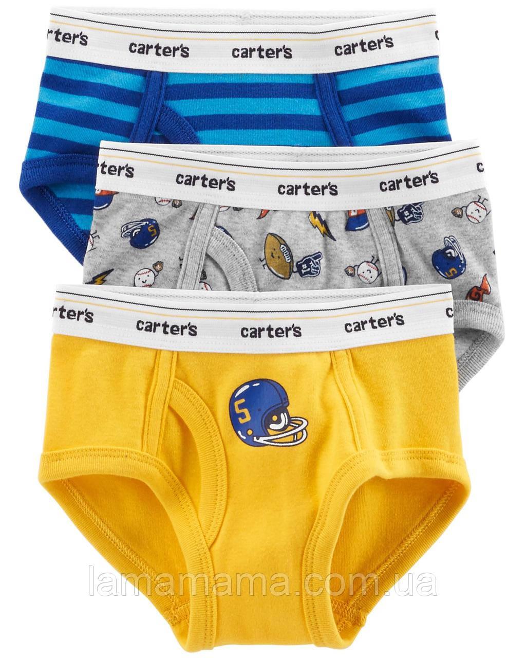 Набор из 3 трусиков Бейсбол Carter's Картерс 3-Pack Cotton Briefs