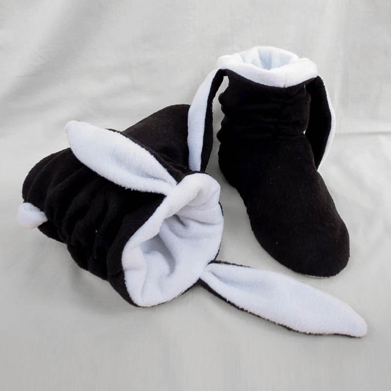 "Тапочки с ушками ""Зайки"" черно белые, фото 1"