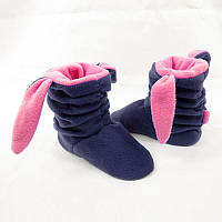 "Тапочки с ушками ""Зайки"" сине розовые, фото 1"