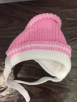 Вязанная шапка для новорожденной девочки, фото 1