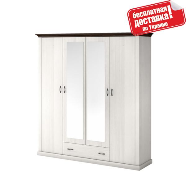 Шкаф 4D1S с 2 зеркалами Лавенда ВМВ Холдинг