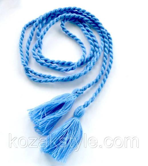 Пояс до вишиванки блакитний