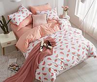 Хлопковый комплект постельного белья Ломтики арбуза (двуспальный-евро)