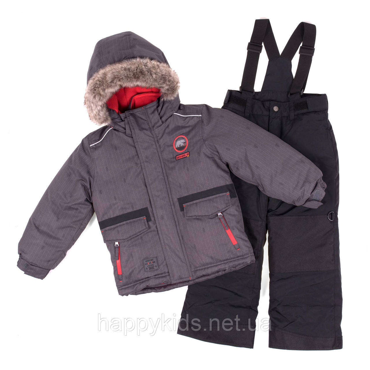 Зимний комплект для мальчика PELUCHE F18 M 53 EG Black /Black. Размеры 3-8.