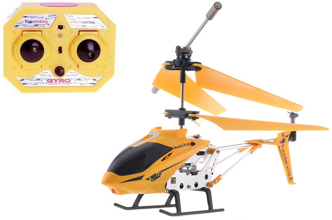 Игрушка Вертолет радиоуправляемый 33008 Model King Желтый