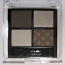 Тени для век 4 цвета Ja-DeSoft Satin Eyeshadow Pallete 37 Silver Smoke