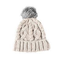 Детские шапки с помпонами из натурального меха в категории шапки в ... 72eebcbb4dacd