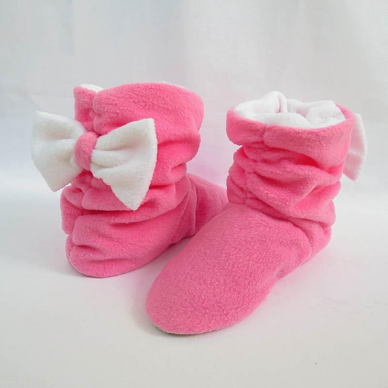 Тапочки Бантики розово белые, фото 1