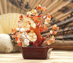 Дерево «Счастья» с камнями Сердолик