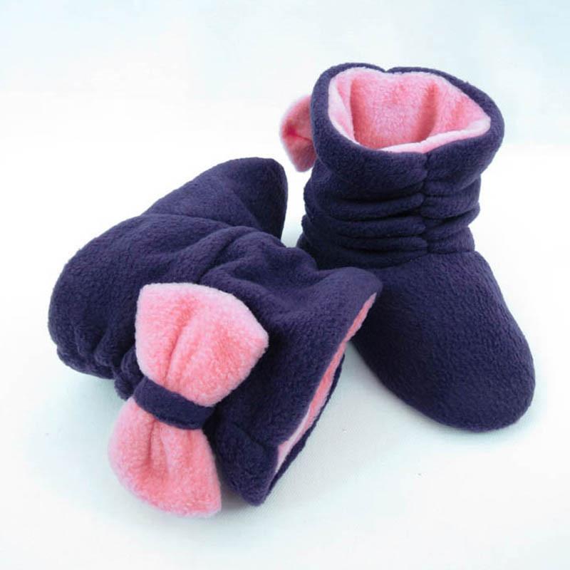 Тапочки Бантики темно сине розовые, фото 1