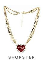 """Подвеска для женщин """"Yolo""""  с Сердцем NLY, фото 1"""