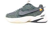 Мужские кроссовки Off-White x Nike Air Monarch the M2K Tekno Dark Gray