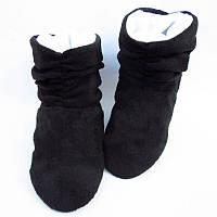 Тапочки ботинки черно белые