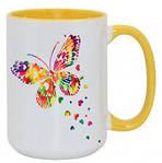 Чашка с Вашим дизайном Tank цветная внутри и ручка, фото 3