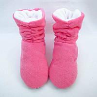 Тапочки ботинки розово белые, фото 1