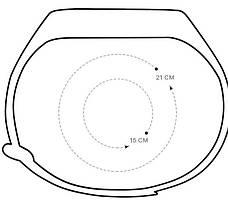 Ремінець для Xiaomi Mi Band 3 Силікон Ребристий-Ромб Чорний (284918), фото 3