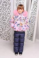 Зимний комбинезон +куртка на Девочку (натуральная опушка)