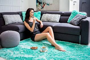 Плюшевий килим Шаггі 170x120 м'ятний