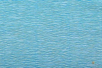 Креп бумага голубая