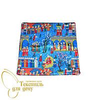Наволочка декоративная Султан Miniatur, шелк, синий
