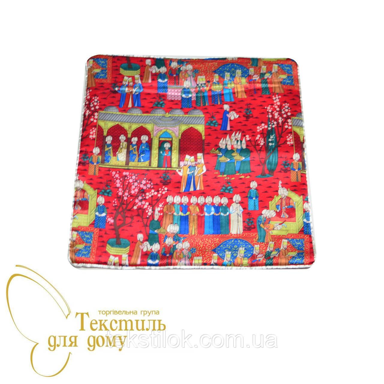 Наволочка декоративная Султан Miniatur, шелк, красный