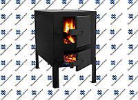 Отопительно-варочная печь КВД-150 с чугунной плитой на две конфортки