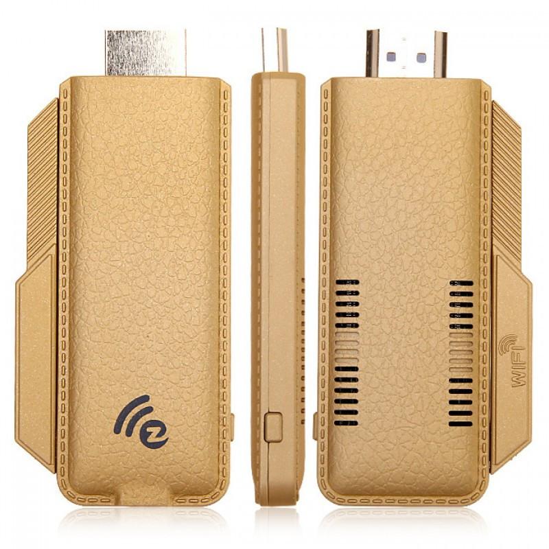 TS-02 Full HD 1080P EZCast Miracast Wi-Fi дисплей ключ w / Dlna / Miracast / AirPlay - Золотий