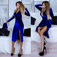 Женское платье-конструктор из бархата