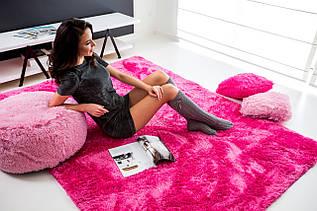 Плюшевий килим Шаггі 170x120 рожевий