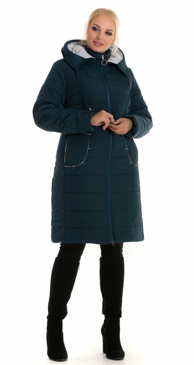 Жіночий пуховик великих розмірів Мальта, кольору